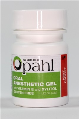 OPAHL Benzocaine 20% Gel - Mint Parfait - 1.12 oz
