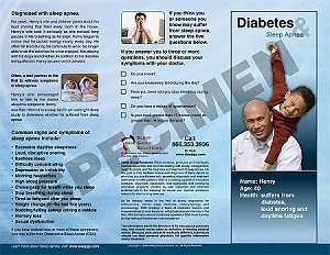 Sleep Apnea & Diabetes Tri-Fold (100)
